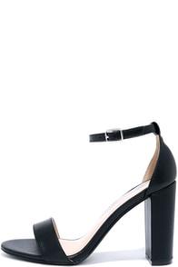 image All Dressed Up Black Matte Ankle Strap Heels