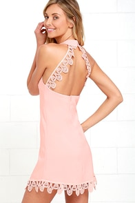 Greatest Gift Blush Pink Lace Dress at Lulus.com!