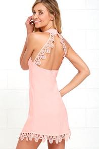 image Greatest Gift Blush Pink Lace Dress