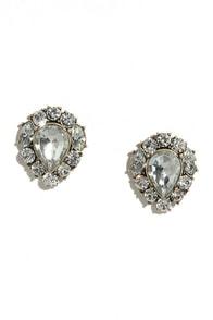 See Me Shine Clear Rhinestone Earrings
