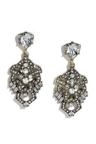 Shimmering Statement Clear Rhinestone Earrings