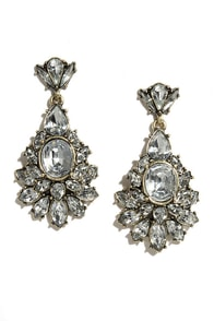 Dream of Genie Clear Rhinestone Earrings