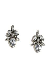 Precious Pebble Clear Rhinestone Earrings
