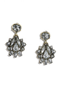 Tonight's the Night Clear Rhinestone Earrings