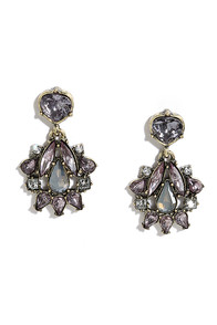 Tonight's the Night Lavender Rhinestone Earrings