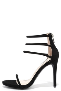 Love This Black Nubuck Dress Sandals