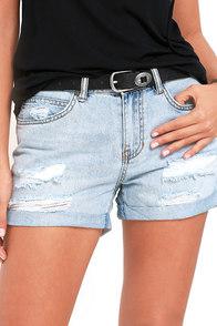 Billabong Frankie Light Wash Distressed Denim Shorts