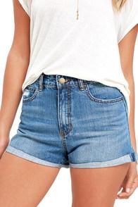 image Billabong Overdrive Medium Wash Denim Shorts