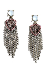 image Frequent Flyer Mauve Rhinestone Earrings