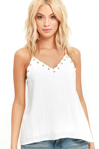 Moon River Wooded Glen Ivory Tank Top at Lulus.com!