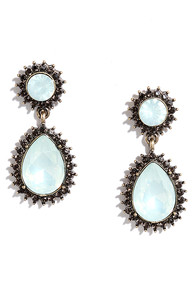 Luxuriously Yours Off-White Rhinestone Earrings
