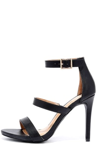 Buzz-Worthy Black Dress Sandals at Lulus.com!
