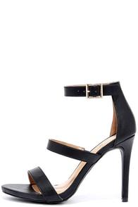 Buzz-Worthy Black Dress Sandals