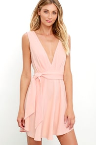 Finders Keepers Collide Peach Skater Dress