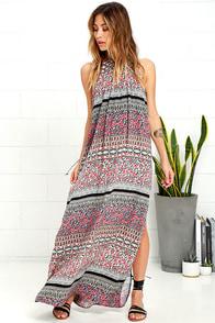 image Sandy Coast Lavender Print Maxi Dress