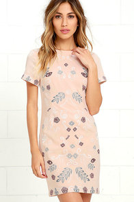 image JOA Bloomington Blush Embroidered Dress