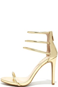 Love This Gold Dress Sandals