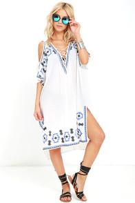 image Strike a Chord Ivory Embroidered Cover-Up