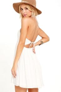 image Set for Sunshine Ivory Crochet Halter Dress