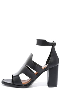 On the Money Black Heeled Sandals