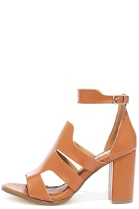 On the Money Tan Heeled Sandals