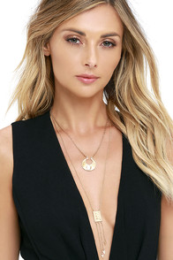 image Of Substance Gold Layered Necklace Set
