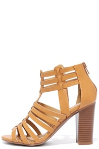 image Near Future Natural Caged Heels