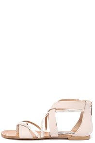 Steve Madden Honore Blush Leather Thong Sandals