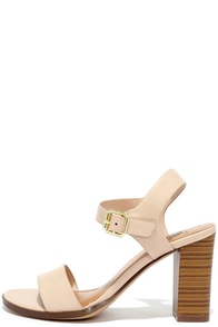 In Any Event Blush High Heel Sandals