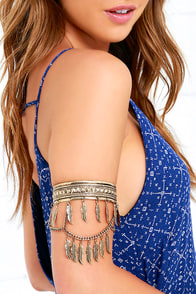 image Feather Step Gold Arm Cuff