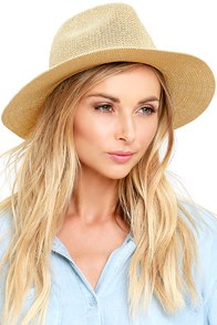 image My Piece of Peace Natural Straw Fedora Hat