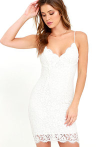 image Picture of Perfection Ivory Lace Dress