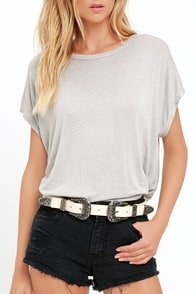 image Where in the World Beige Double Buckle Belt