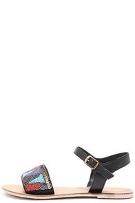 image Terrain Dance Black Beaded Flat Sandals