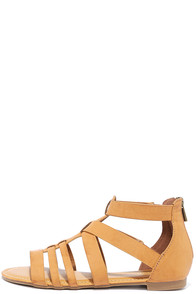 Hot Item Tan Gladiator Sandals