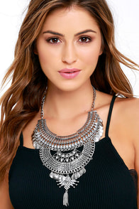 image Thoughtfulness Silver Statement Necklace