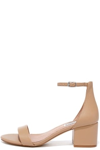 Steve Madden Irenee Blush Leather Ankle Strap Heels