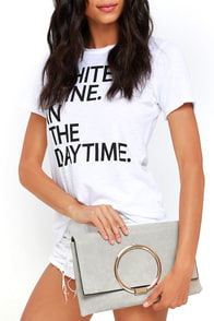 image Who's There Grey Clutch
