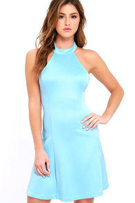 image Devoted to You Light Blue Dress