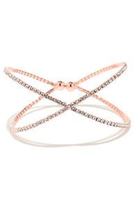 Extra Special Rose Gold Rhinestone Bracelet