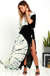 Needed Me Black Tie-Dye Maxi Dress