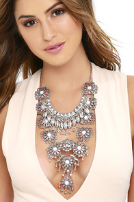 Invincible Silver Statement Necklace