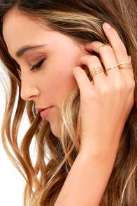 Girls Night Out Gold Ring Set