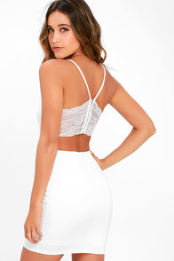 Heartbeat Song Ivory Backless Lace Dress