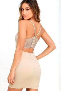 image Heartbeat Song Beige Backless Lace Dress