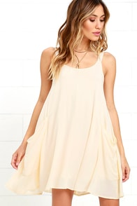 On the Road Nomad Cream Swing Dress