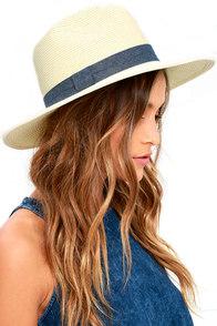 San Diego Hat Co. Fresh Fields Beige Straw Hat
