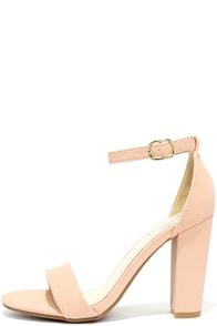 image Something Sweet Rose Blush Nubuck Ankle Strap Heels