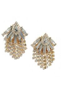 image All a Daydream Gold Rhinestone Earrings