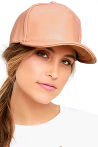 image Clap Back Blush Vegan Leather Baseball Cap